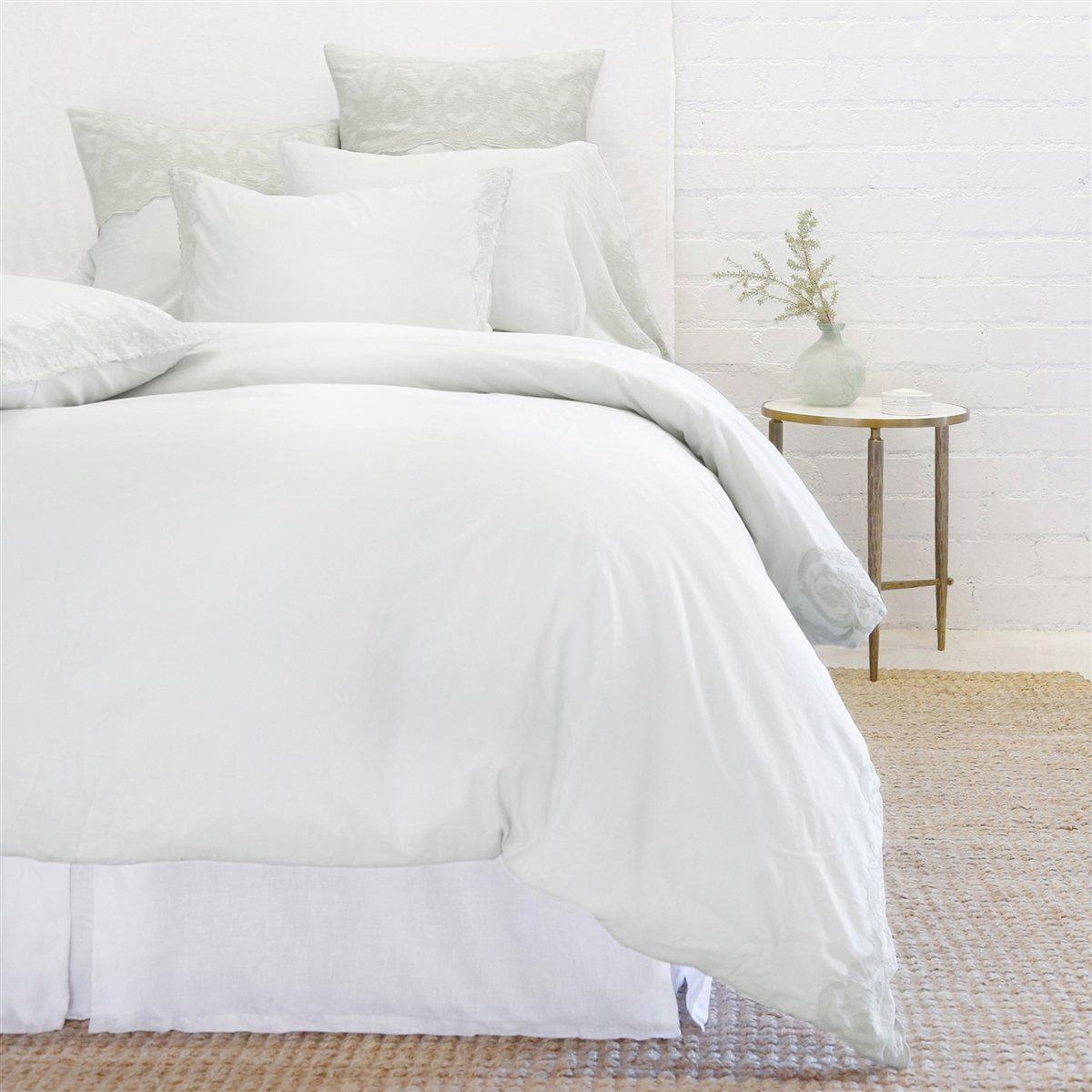 Grace Duvet Set by Pom Pom at Home-Bed & Bath-Pom Pom-Twin-Powder Blue-A Cottage in the City
