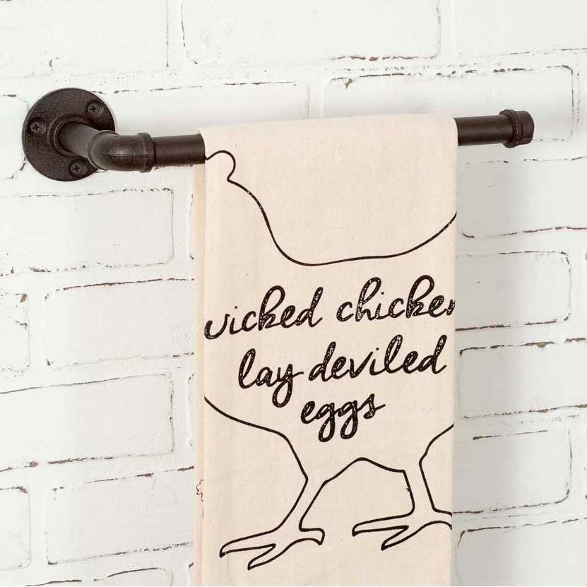 Industrial Wall Mount Towel Holder