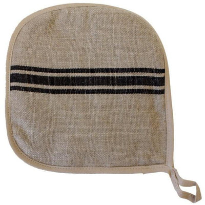 Linen Black Stripe Potholder