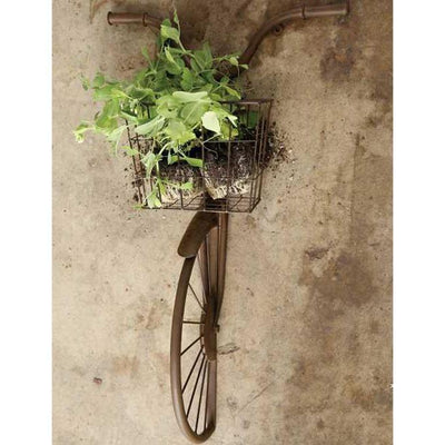 Rusty Iron Bicycle Wall Basket