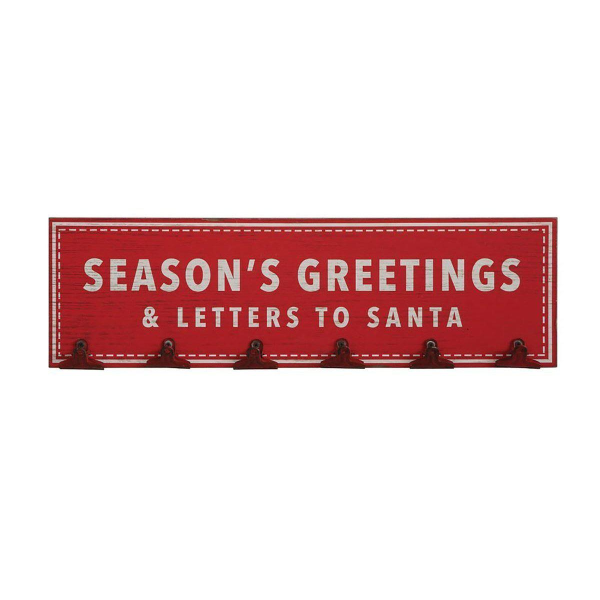 Season's Greetings & Letters To Santa Card Holder-Seasonal-Creative-A Cottage in the City