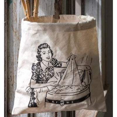 Vintage Style Laundry Clothes Pin Bag