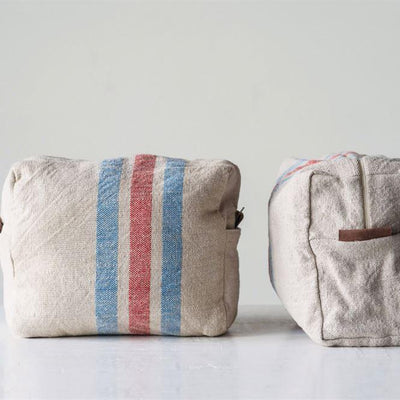 Vintage Wash Stripe Zip Pouch-Gifts-Creative-Bag-A Cottage in the City