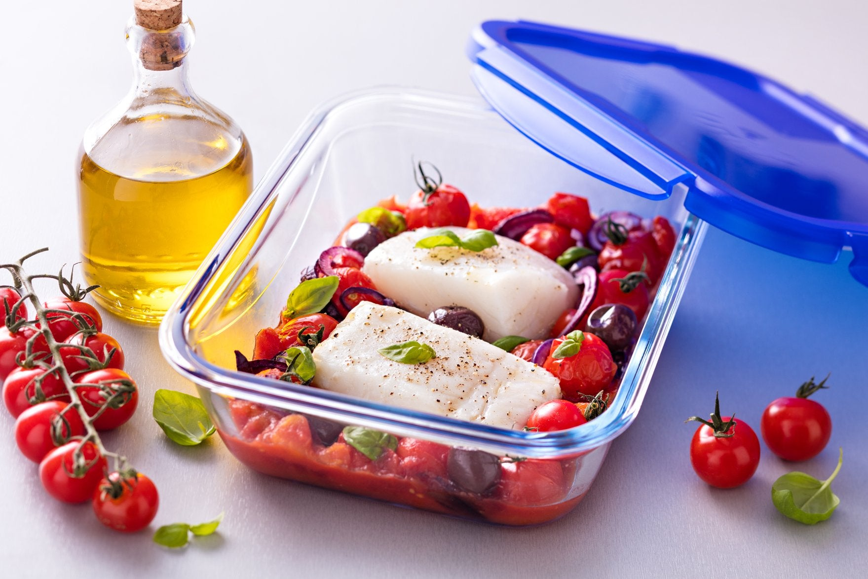Glass lunch containers
