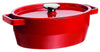 SlowCook Cast iron red oval Casserole - compatible with oven and induction hobs
