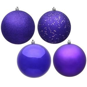 4 inches Purple Ball 4 Finish Asst 12/Bx