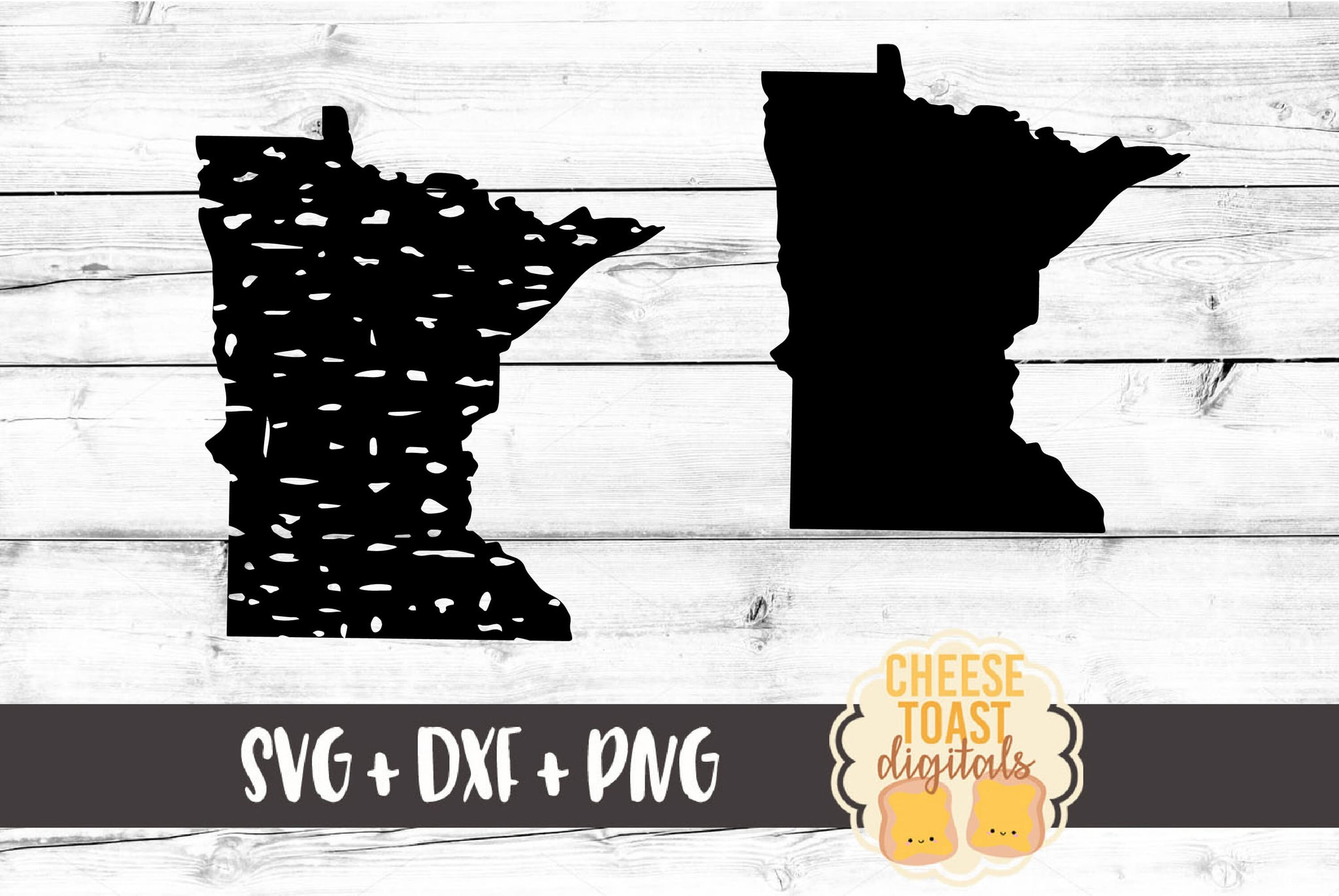 Minnesota - Grunge and Solid - SVG, PNG, DXF