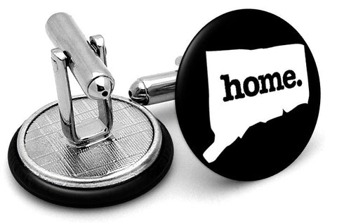 Connecticut Home State Cufflinks - Angled View