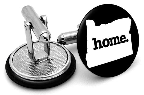 Oregon Home State Cufflinks - Angled View