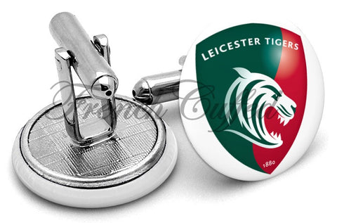 Leicester Tigers Cufflinks - Angled View