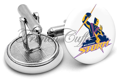 Melbourne Storm Alternate Cufflinks - Angled View