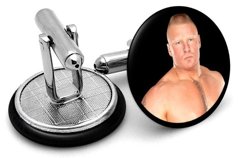 Brock Lesnar Cufflinks - Angled View
