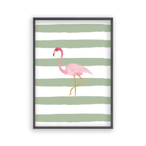Flamingo Watercolour Print - Blim & Blum