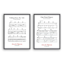 Personalised Wedding Day Sheet Music - Set Of 2 Prints - Blim & Blum