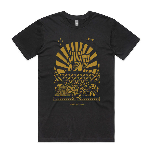 Fuzen Ship Mens Tee Black/Gold