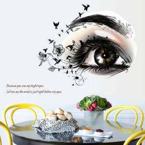 Big Eye Art Wall Sticker Removable Home Decor