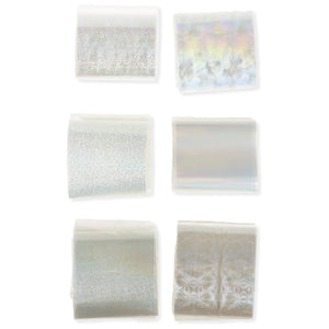 6pcs Nail Foils Starry Sky Glitter Nail Art Transfer Sticker Paper