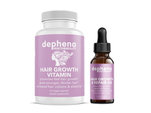 Dephena Hair Growth Vitamins and Hair Oil Combo
