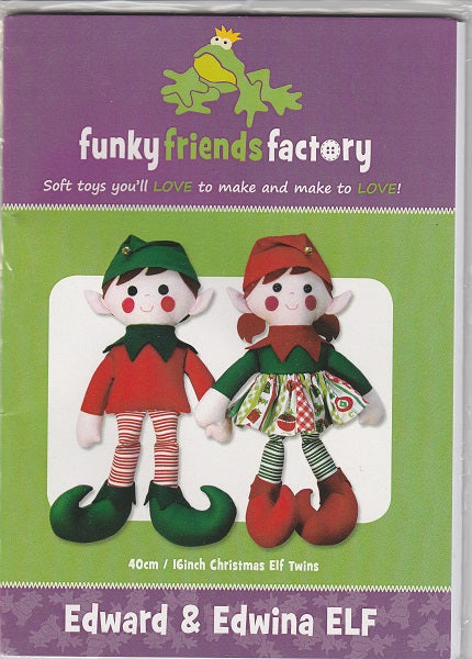 Edward and Edwina Elf Soft Toy Pattern