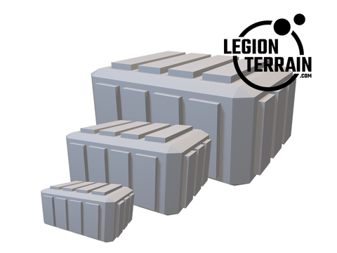 Digital STL File - Large/Medium/Small Crate - LegionTerrain