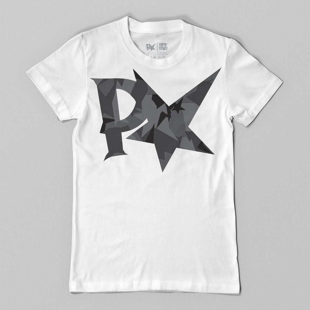 Pimpstar Big Logo Urban | T-shirt, White