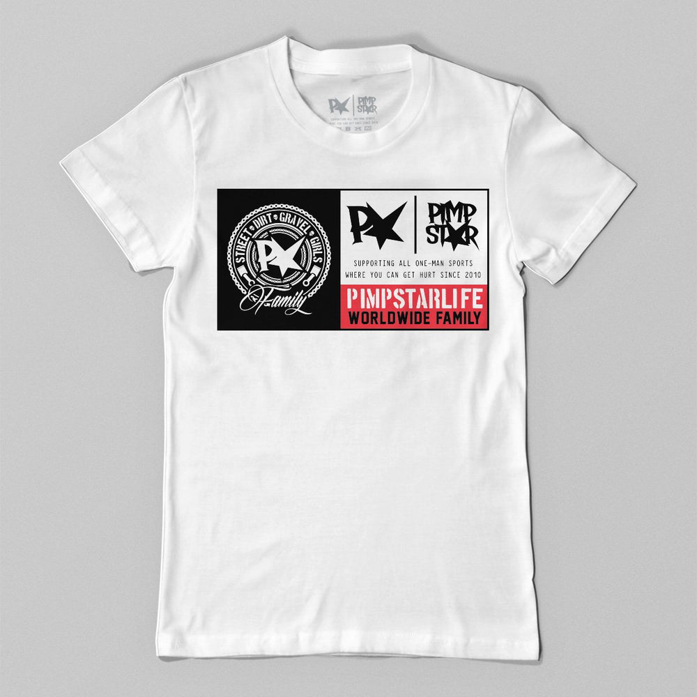 Pimpstar Worldpatch | T-shirt, White