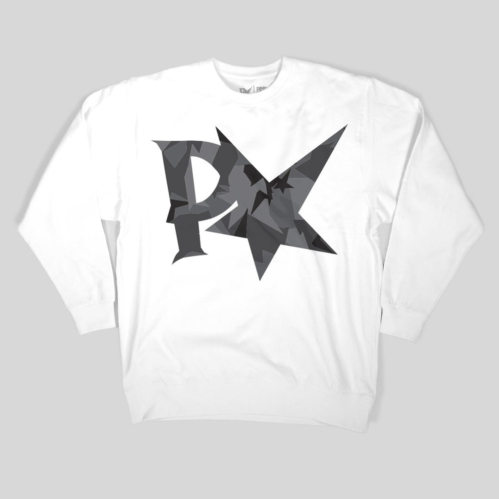 Pimpstar BIG LOGO | Crew Neck, Urban White