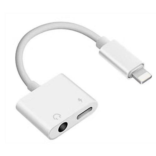 Mobile Phone Adapters - 3.5 Mm Dual-Port Headphone Jack Adapter & Charger