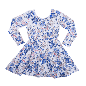 Oriental Floral Mabel Dress