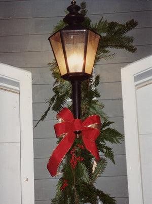 Streetlamp Decorated for Christmas