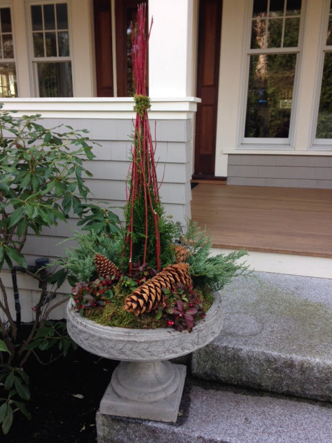 Holiday Outdoor Stone Urn