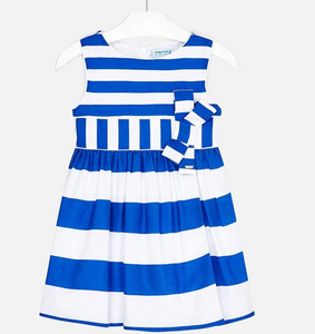 Mayoral Striped Dress with Bow