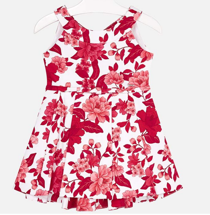 Mayoral Floral Printed Dress with Pleats