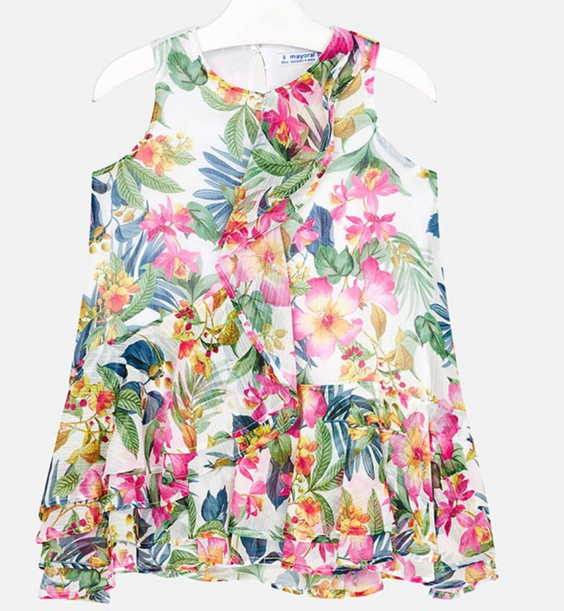 Mayoral Tropical Patterned Dress
