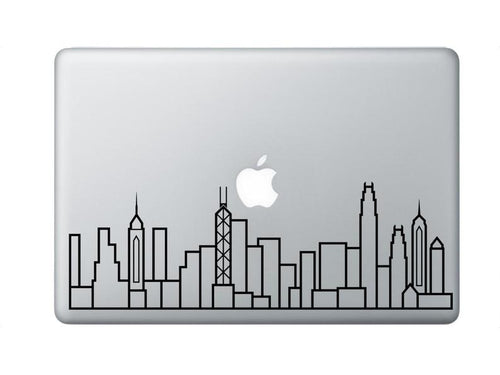 Hong Kong Skyline Art Decal - Decorative sticker for MacBook / laptop / wall / door / window