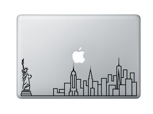 New York Skyline Art Decal - Decorative sticker for MacBook / laptop / wall / door / window