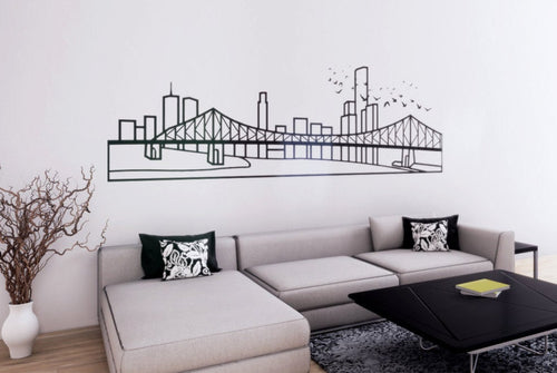Brisbane Skyline - Wall Decal - Decorative wall sticker for your home decor