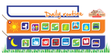 Daily Routine Chart - Hanging, Magnetic Board