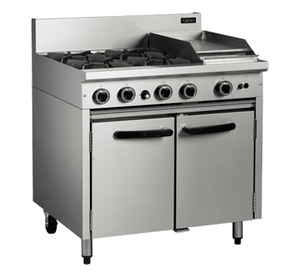 Blue Seal Cobra 4 Burner/1 Griddle Gas Static Oven Range 900mm CR9C