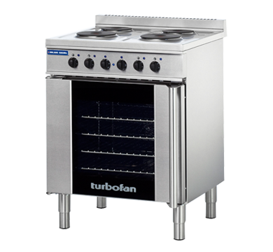 Blue Seal Turbofan 675mm(W) Electric Convection Oven 4 x 1/1GN Grid E931M