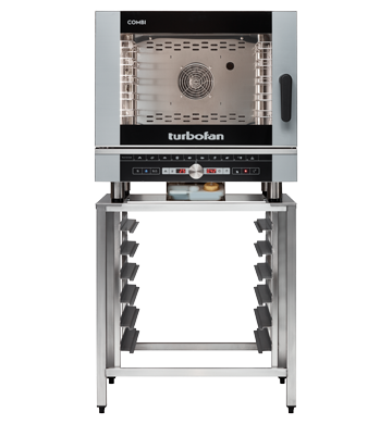 Blue Seal Turbofan 5 Grid Touch Control Combi Oven With Auto Wash 812mm EC40D5