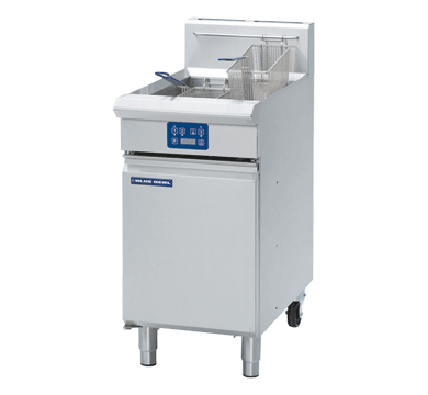 Blue Seal Evolution Vee Ray Single Tank Fryer with Elec Controls Gas 450mm GT45E