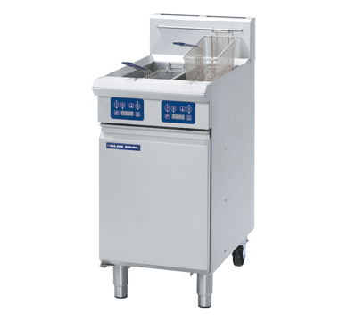 Blue Seal Evolution Vee Ray Twin Tank Fryer with Elec Controls Gas 450mm GT46E