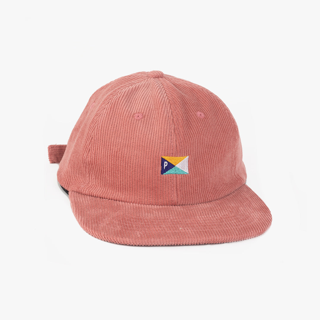 Pennant 6 Panel Cap Dusty Pink