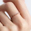 Lace Single Ring. Rose Gold