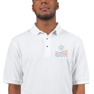 Embroidered Polo Shirt Desert Logo