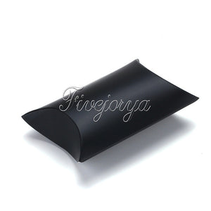 100PCS Pillow Candy Box Paperboard 5-8 candies Capacity