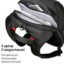 "Load image into Gallery viewer, Slim Backpack w/Laptop Compartment 15"" 17"" & w/USB Charger"