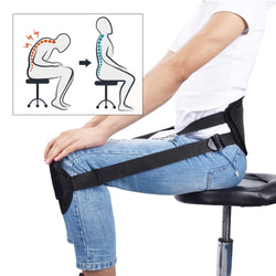 Portable Back Support Belt | Improves Sitting Posture | Ideal for Lower Back Issues