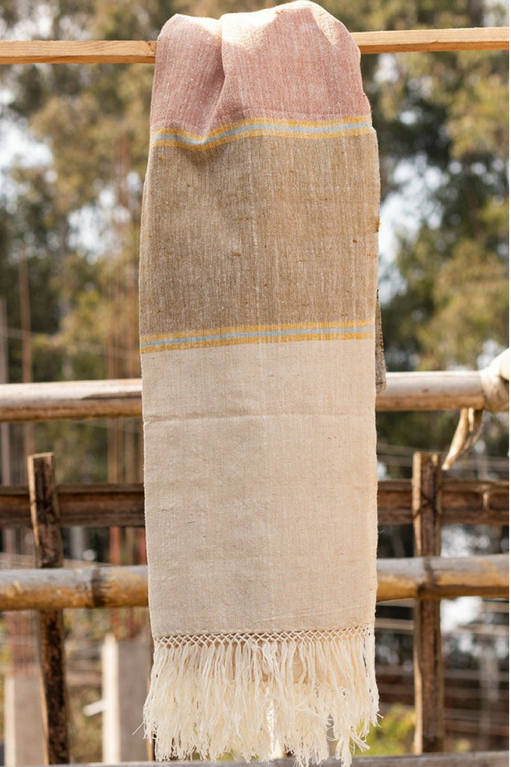 Eri Silk Wrap - Handwoven Hand spun - 100% Organic Sustainable Peace Silk